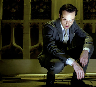 Moriarty on stairs
