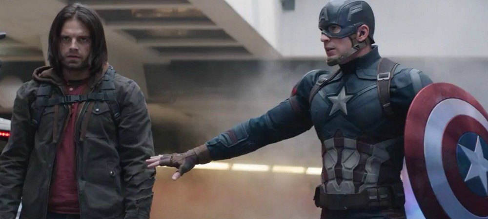Captain America diffusing the situation