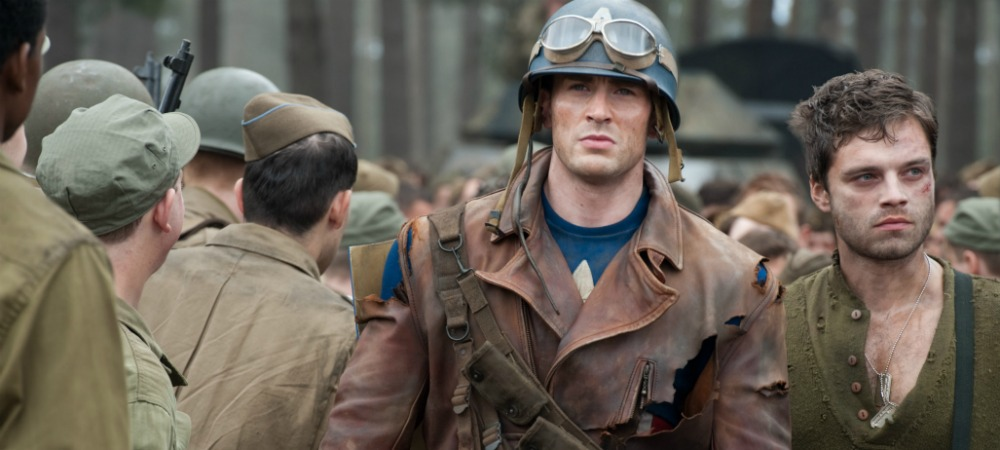 Captain America rescuing the 107th