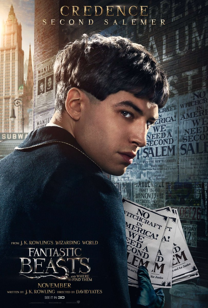 Fantastic Beasts character poster: Credence