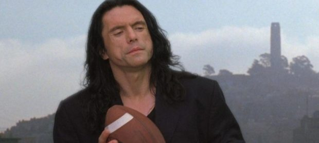The Room Johnny with a Football