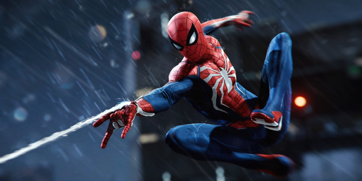 spider-man ps4 review rain