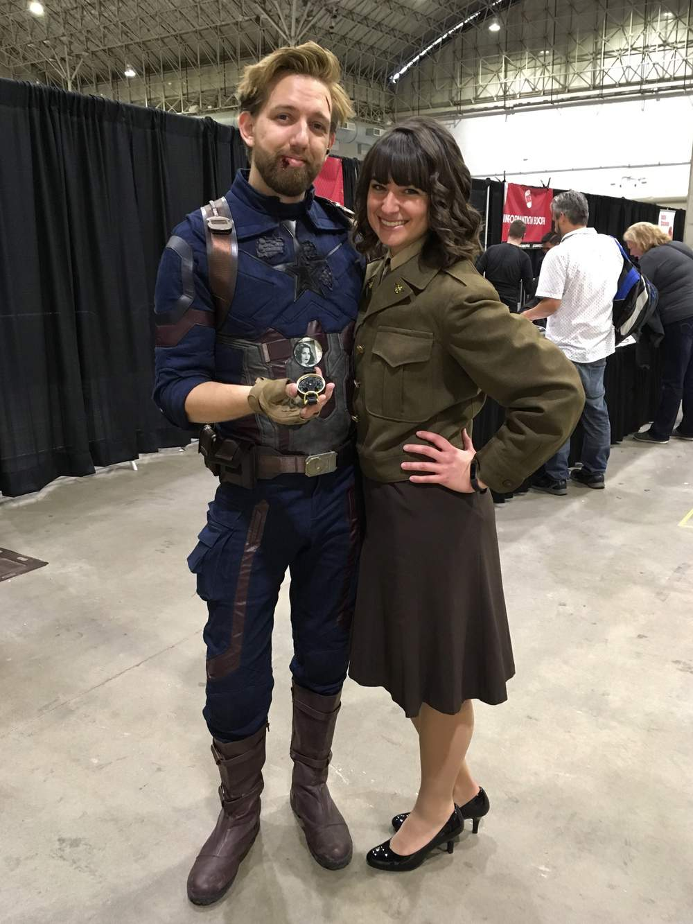 Captain America and Agent Carter cosplay