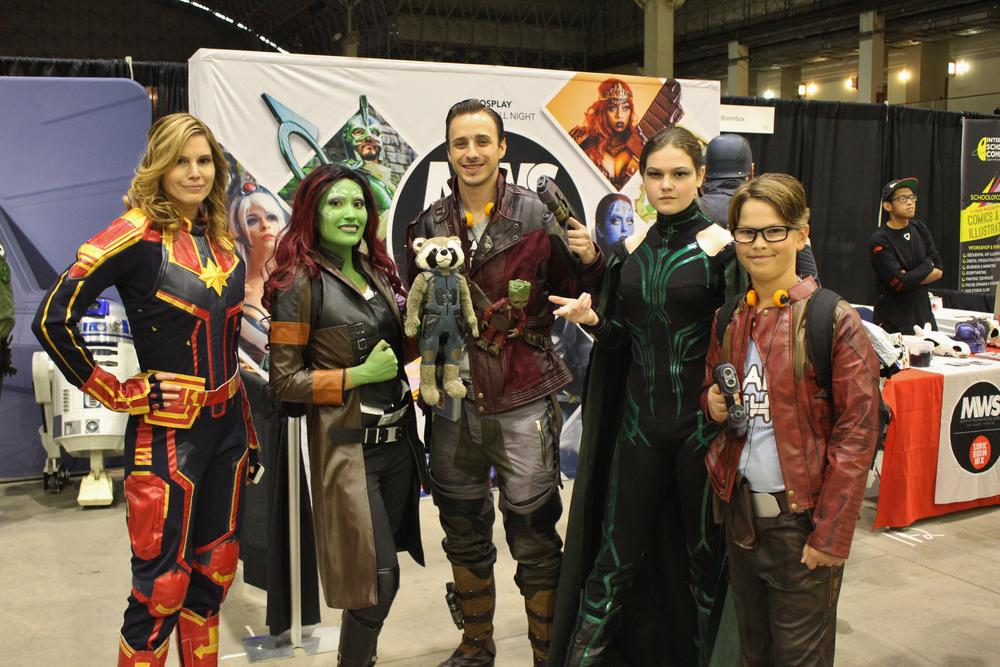 Guardians of the Galaxy cosplayers