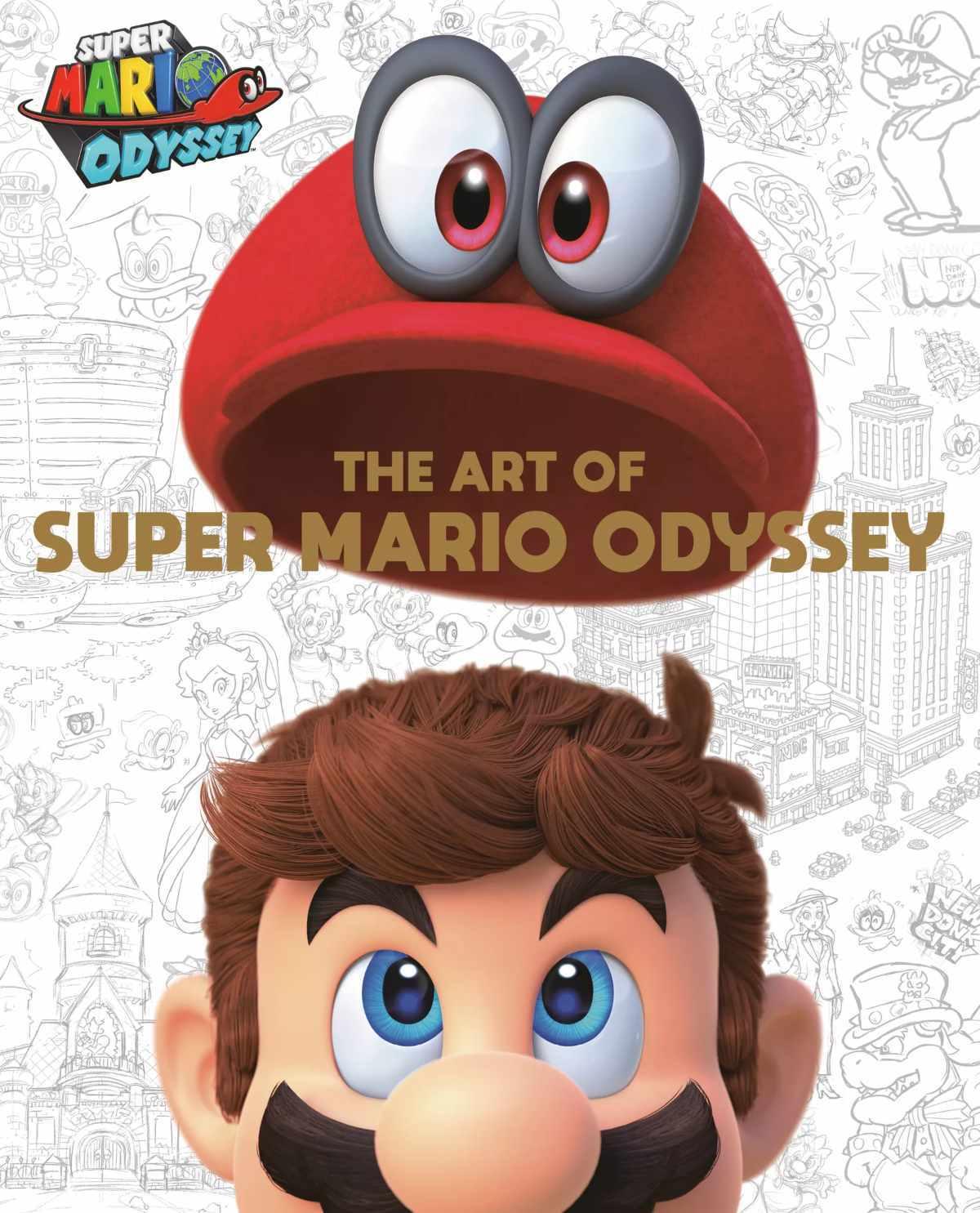 super mario odyssey art book cover