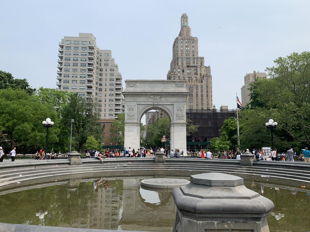Marvel filming locations in New York City: Washington Square Park