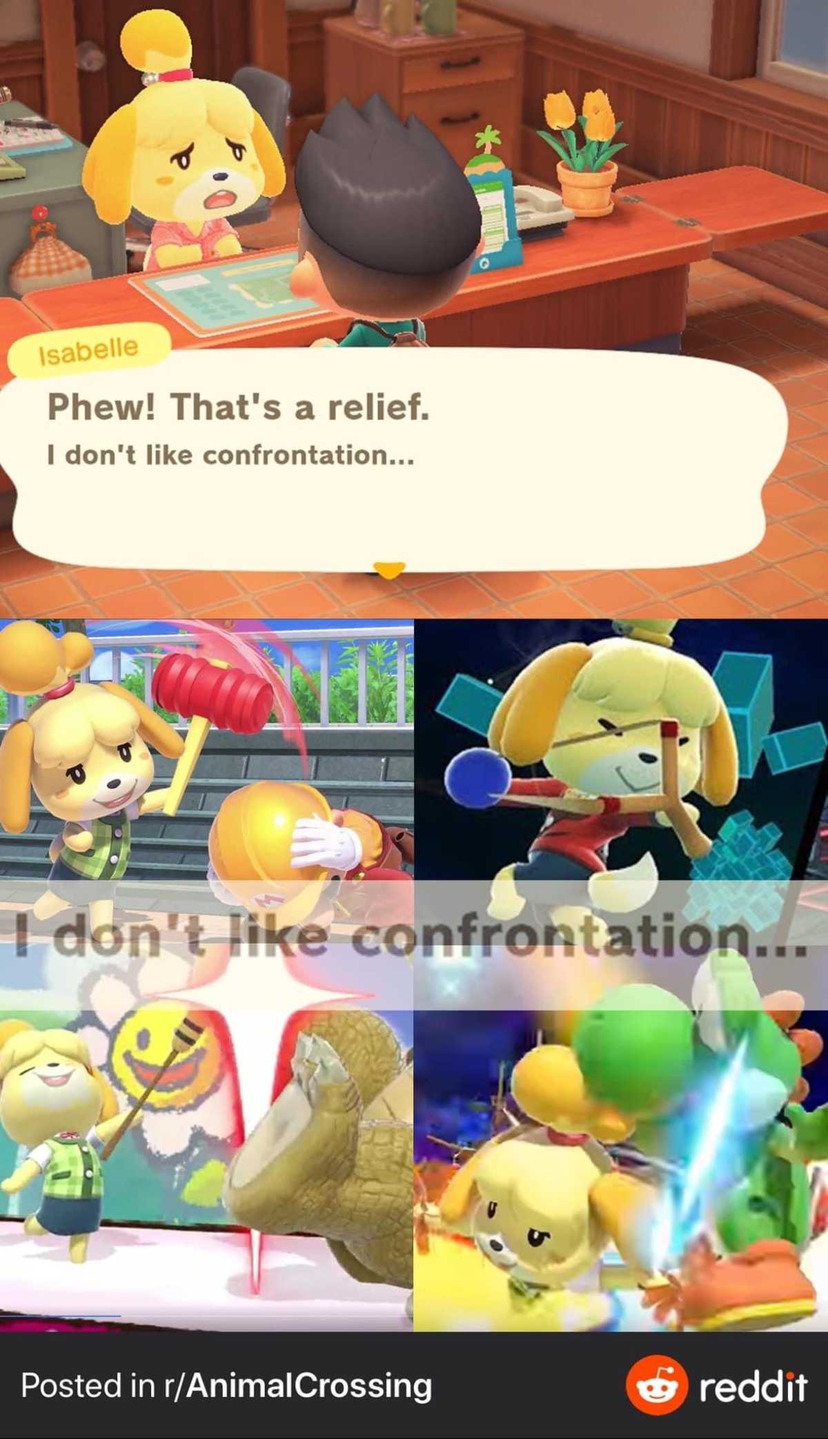 animal crossing memes isabelle
