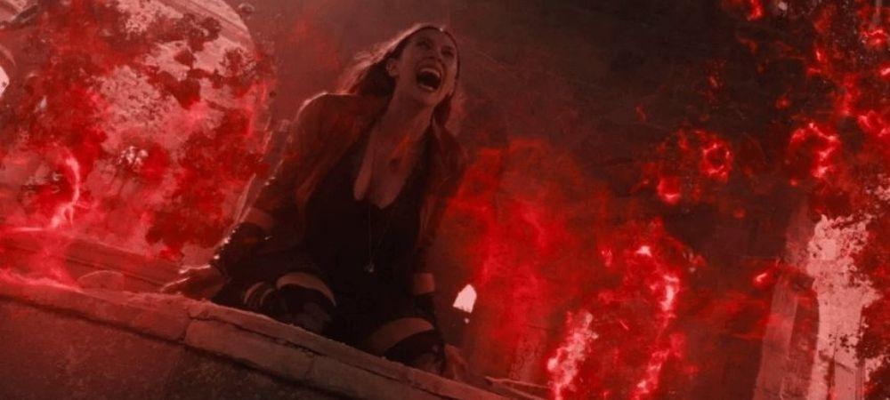 Wanda screaming in pain when Pietro dies
